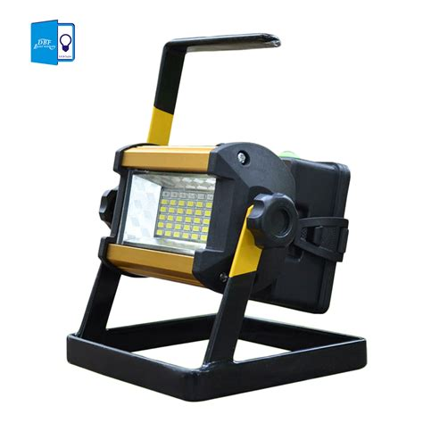rechargeable led outdoor lights dbf waterproof ip65 smd3528 36led 30w led flood light