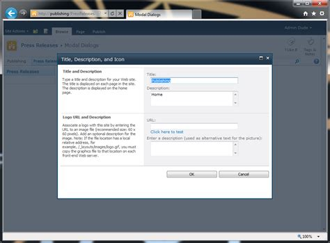 ui pattern modal window sharepoint 2010 application pages and modal dialogs the