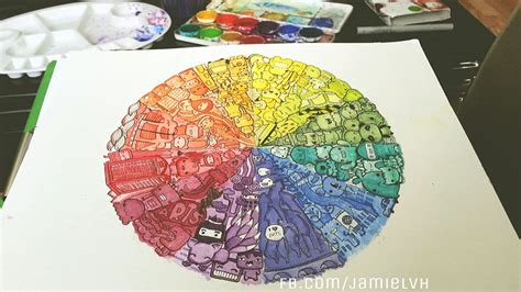 doodle wheel color wheel doodle on behance