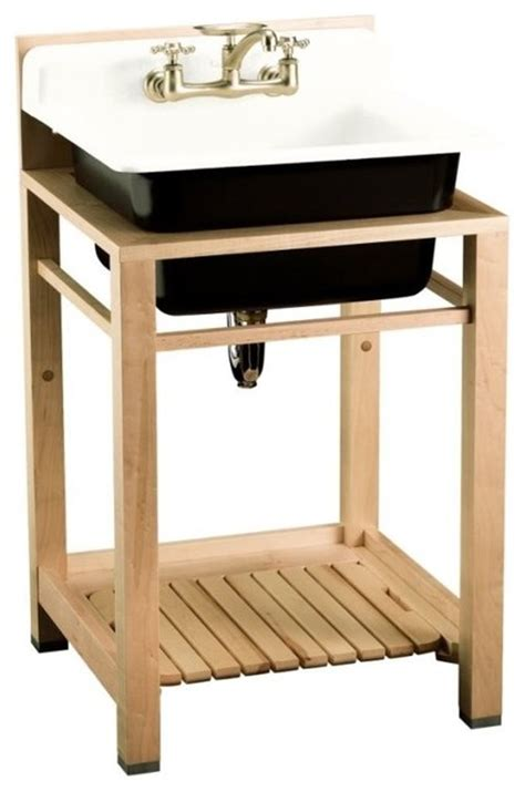 kohler bayview wood stand utility sink kohler k 6608 2p 0 bayview wood stand utility sink with