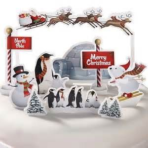 Cupcake Home Decor Kitchen north pole christmas cake toppers set of 11 card cake