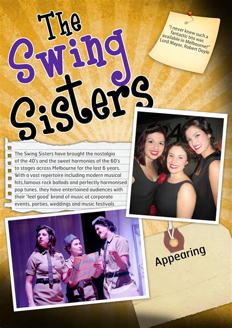 the swing sisters upfront events entertainment booking agency with