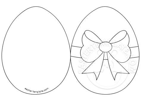 easter egg card template coloring pages