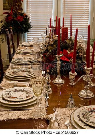 picture  christmas dinner place settings formal china