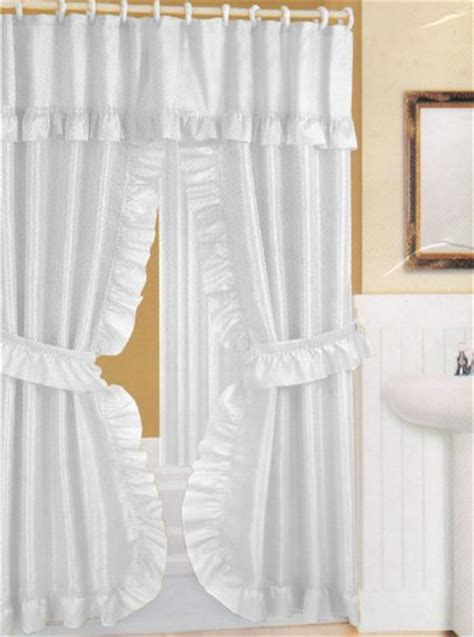 swag shower curtain double swag shower curtain promotion buy cheap white