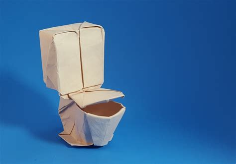 How To Make A Paper Toilet - origami furniture page 2 of 2 gilad s origami page