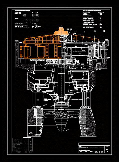 turbines  generators kaplan turbine dwg plan