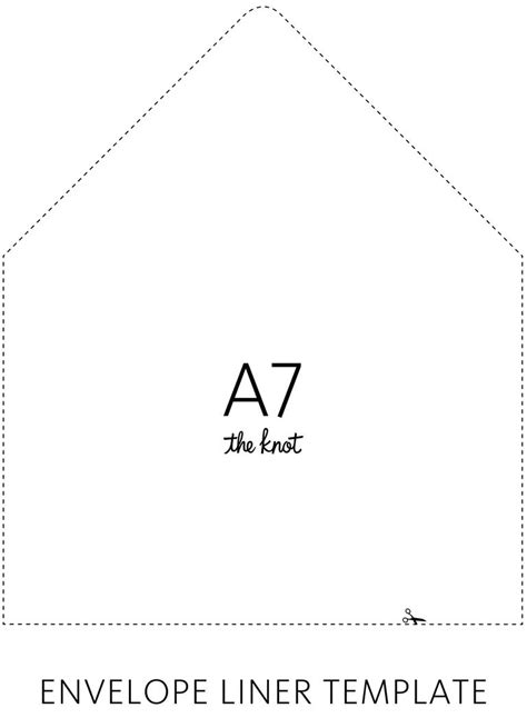 a7 card template the knot envelope liner template