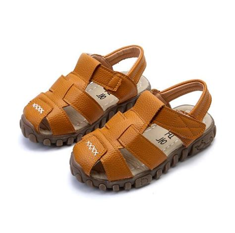 Sandal Pompom Anak Size 21 30 classic style boys summer shoes size 21 30 protection toes cutouts children sandals soft