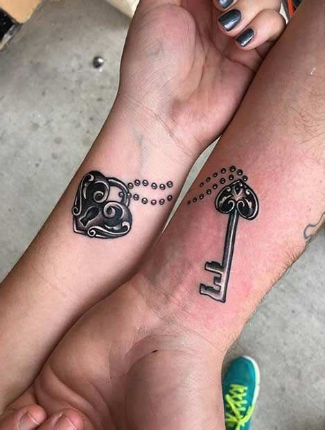 hand tattoo key 61 cute couple tattoos that will warm your heart arm