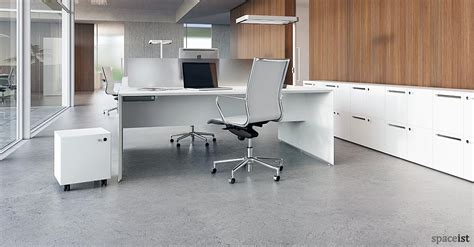 White Office Desk by White Office Desks Forty5 Desk 2 Person