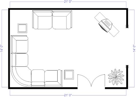Living Room Floor Plans by Smartdraw Review Free Floorplan Designs