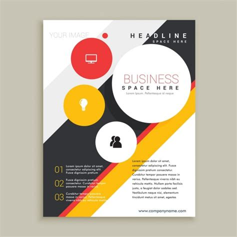 creative brochure template vector free download
