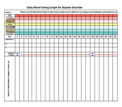 Bipolar Mood Chart Template sle mood chart 11 documents in pdf word