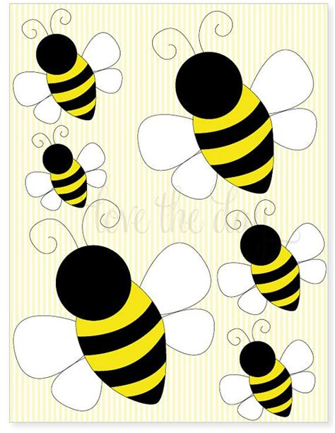 printable bee stickers printable party decals bumble bee birthday party by
