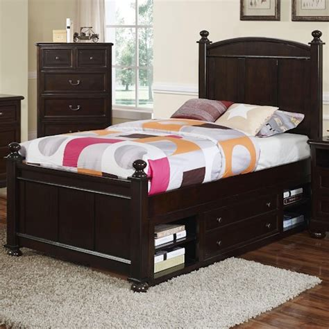 Bed With Tv In Footboard For Sale by New Classic Ridge Transitional Panel Bed With