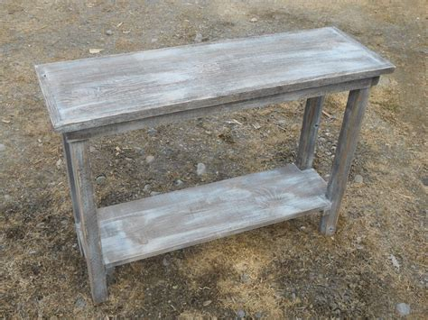 Rustic Handcrafted Handmade Barn Wood Sofa Table Barn Wooden Sofa Table