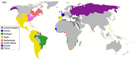 map  colonial empires   world