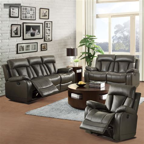 lazy boy living room furniture new black leather recliner lazy chair furniture living