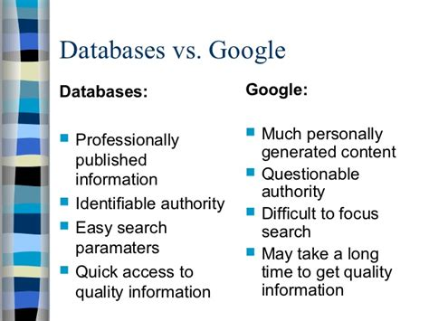 databases  google