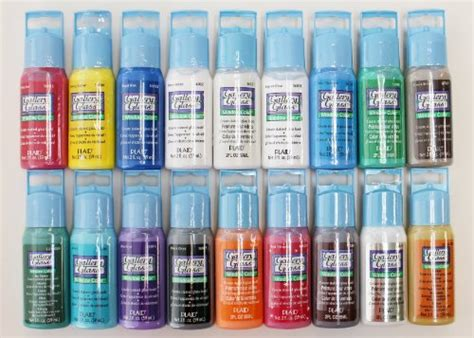 plaid promoggi gallery glass acrylic paint 2 ounce best selling colors i new ebay