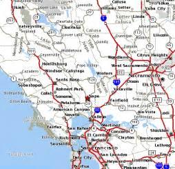 napa valley map of california map of san francisco bay california