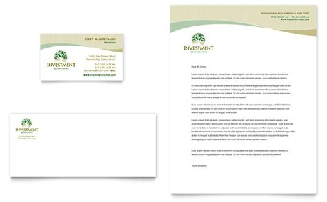 Bank Details On Letterhead Investment Management Business Card Letterhead Template Word Publisher
