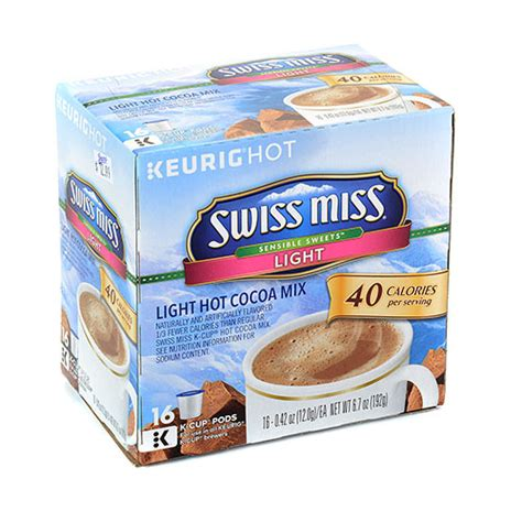 swiss miss light k cups upc 611247353318 keurig 174 swiss miss 174 sensible sweets