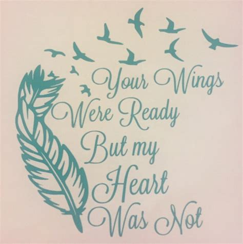 feather tattoo your wings were ready your wings were ready but my heart was not decal feather and