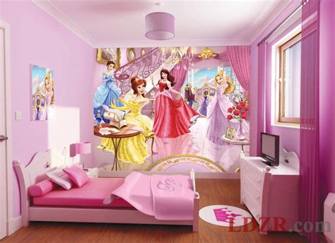 wallpaper kids bedrooms children room wallpaper with princess themes home design