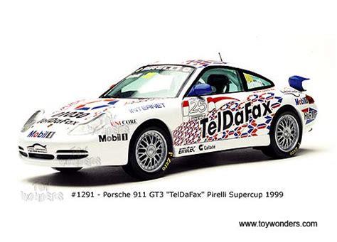 1999 porsche 911 gt3 teldafax by sun 1 18 scale