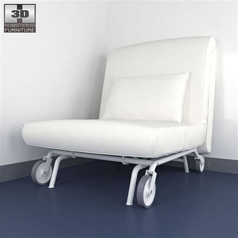 chair bed ikea ikea ps lovas chair bed 3d model game ready max obj 3ds