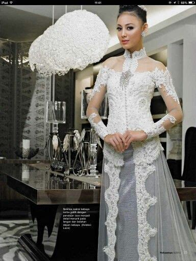 dress putih nikah 43 best akad nikah kebaya images on pinterest kebaya