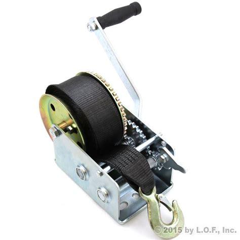 2500 lb boat trailer winch hand winch 2500 lbs hand crank strap gear winch atv boat