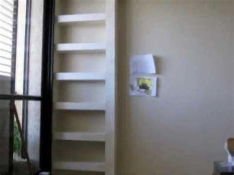 diy plaster shelves   living room youtube