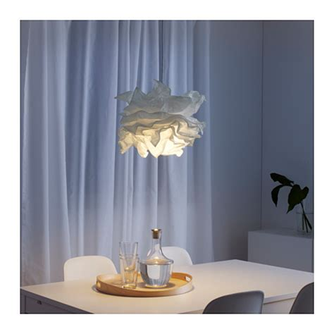 Small Fitted Kitchen Ideas by Krusning Pendant Lamp Shade White 43 Cm Ikea