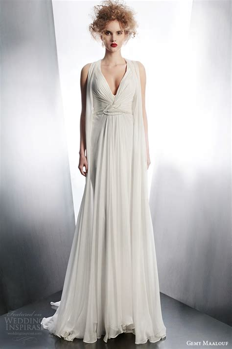 draped wedding dresses gemy maalouf 2015 wedding dresses part 1 wedding inspirasi