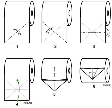 How To Make Toilet Paper Origami - toilet paper origami bird