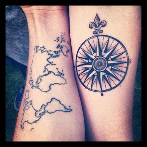 tattoo compass world map top world map wrist tattoo images for pinterest tattoos