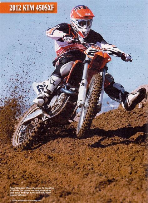 motocross action magazine 2012 ktm 450 sx f article from motocross action magazine