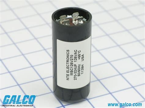 nte motor start capacitor msc125v270 nte electronics motor start capacitors galco industrial electronics