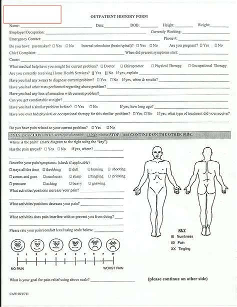 evaluation physical therapy evaluation form physical therapy evaluation form physiotherapie