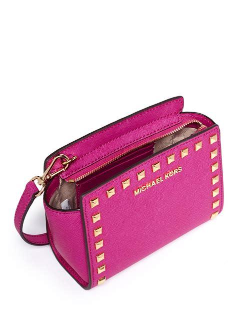 Mini Ion Massenger Refleksasi Pink lyst michael kors selma mini stud saffiano leather messenger bag in pink