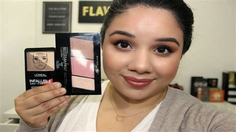 Maybelline Contour And Highlight new l oreal infallible contour and highlight vs maybelline