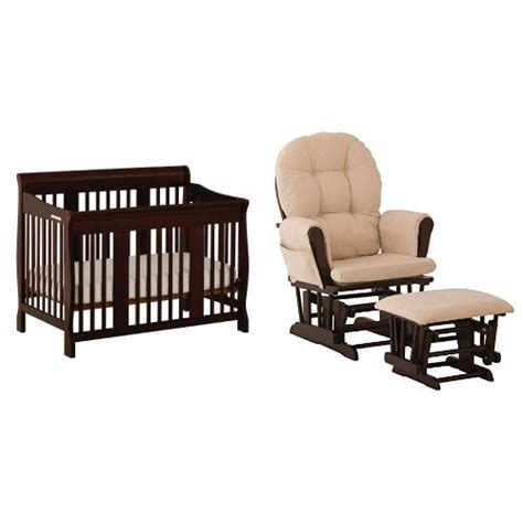 stork craft hoop glider and ottoman set espresso beige stork craft tuscany 4 in 1 convertible crib espresso and