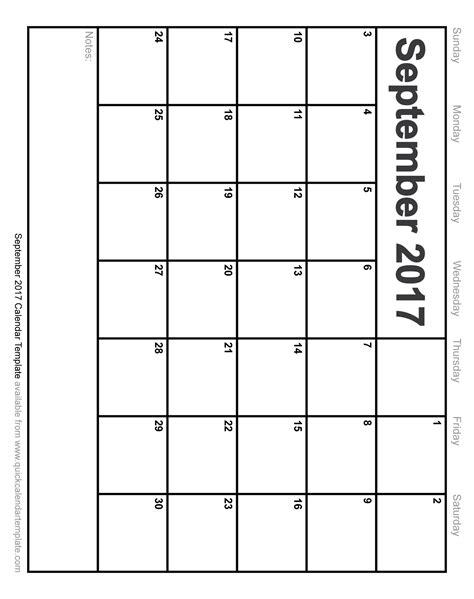 printable calendar template september 2017 free printable september 2017 calendar