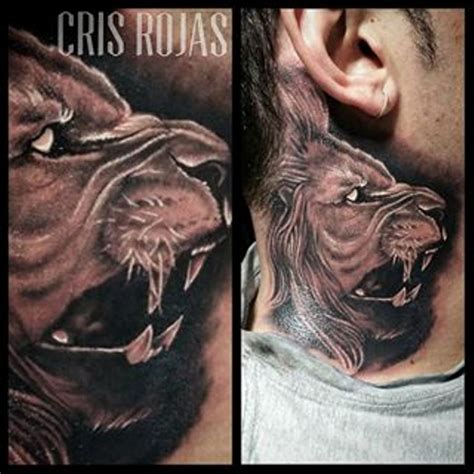 neck tattoo lion image gallery lion neck tattoo