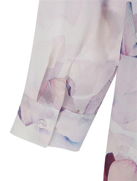 Slit Hem Floral Jumper Dress multicolor floral print split back dipped hem longline