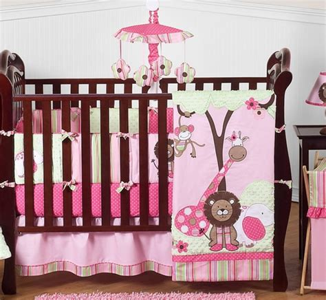 pink and green baby bedding pink and green girls jungle baby bedding 9pc crib set only 189 99