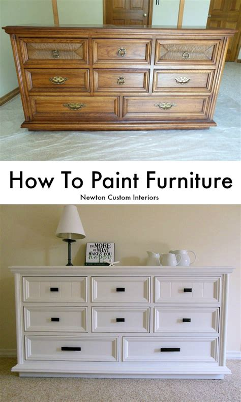 How To Repaint A Wood Dresser by How To Paint Furniture Newton Custom Interiors
